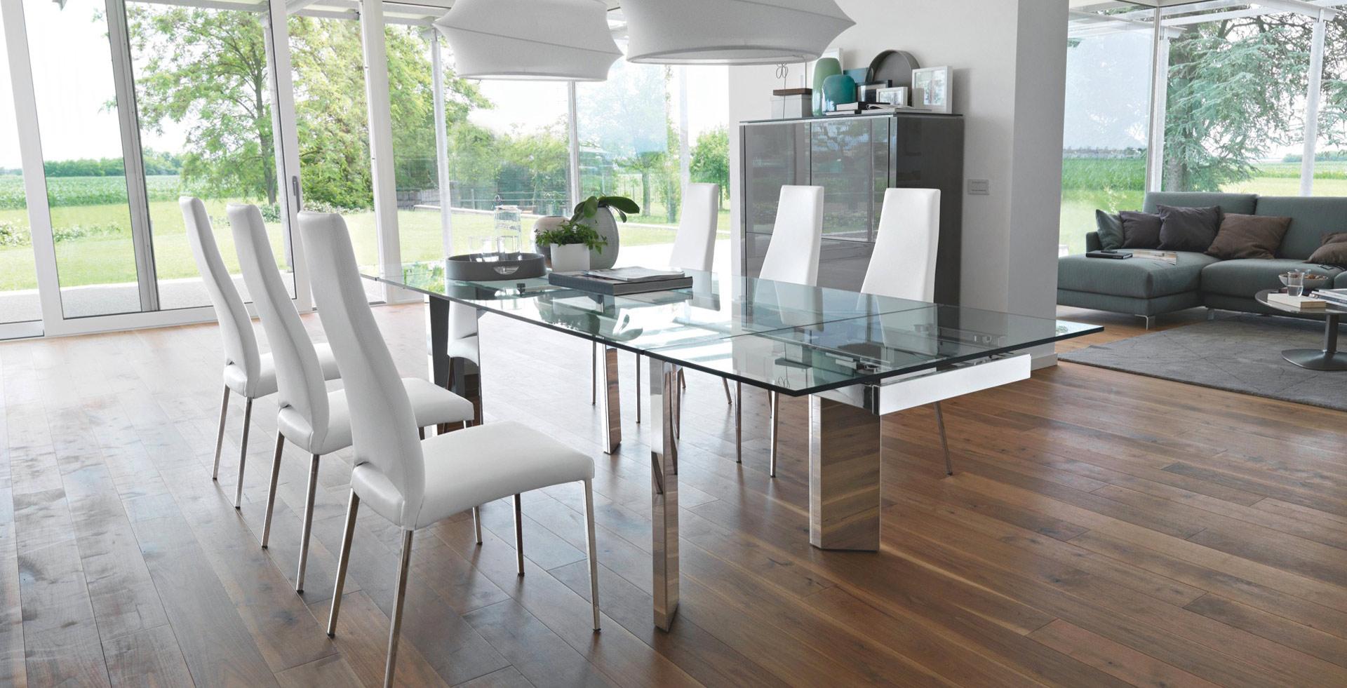 Tavoli e ripiani in cristallo europan glass - Tavoli quadrati in cristallo ...